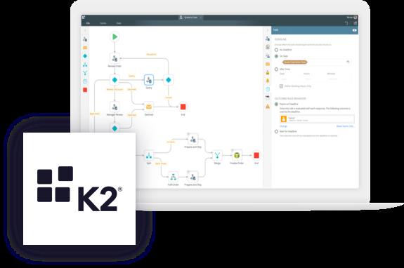 K2 digital process automation platform - system screen