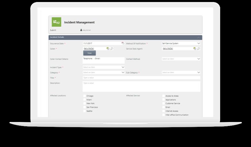 K2 platform - modern user experience